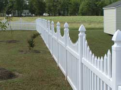 Classic Style Vinyl Picket Fencing