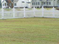 Backyard Vinyl Picket Fence