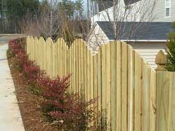 Raleigh Wooden  Arch Fence