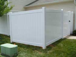 6 foot Vinyl Privacy Fence, Raleigh, NC