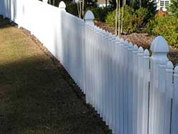 Vinyl Backyard Fence in Progress