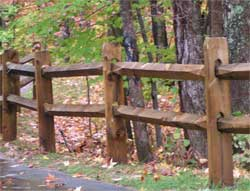 Sample Split Rail Wooden  Fence